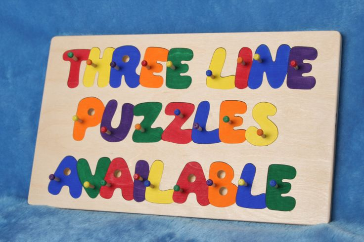 Name Puzzle by woodthatsfun on Etsy, $25.00