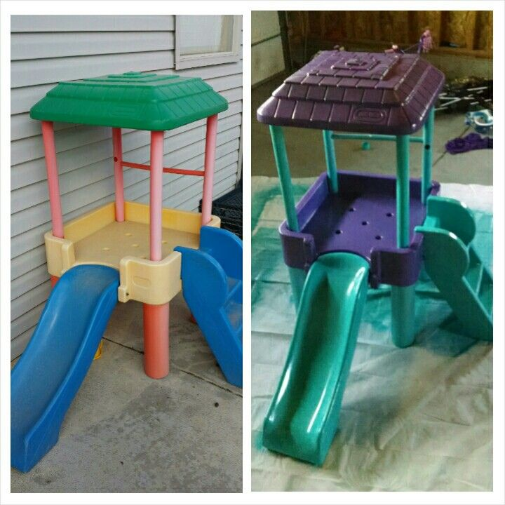 171 best images about children 39 s little tikes makeover on for Little tikes outdoor playset