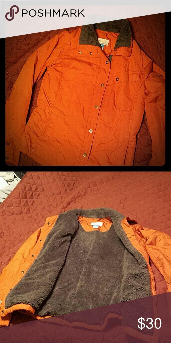 Columbia jacket Orange lined with gray fleece inside. Columbia Jackets & Coats Utility Jackets
