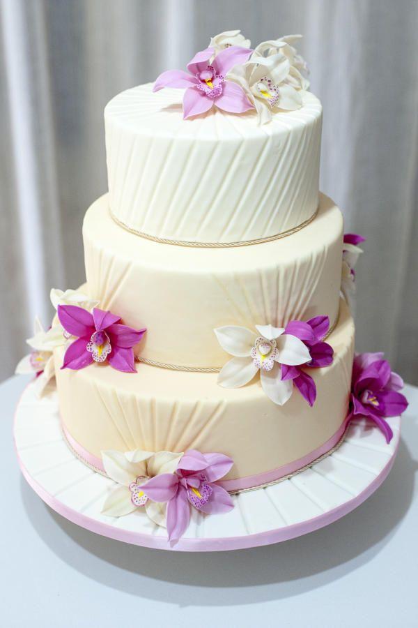 Elegant Orchids Cake