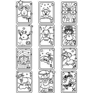 All Signs Zodiac Colouring Sheet
