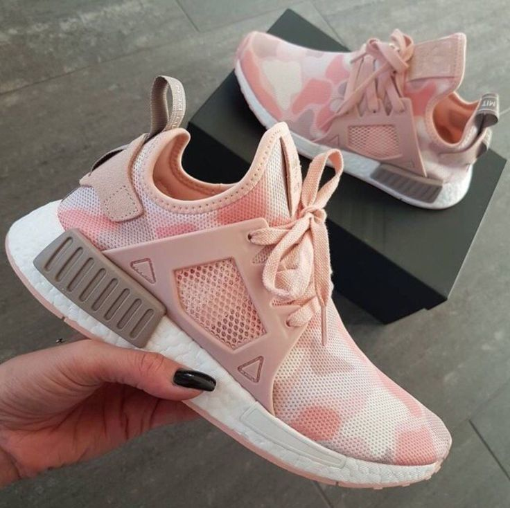 New Adidas NMD Women Pink Duck Camo. Have a soft camouflage pattern for a  street worthy style. Built with a soft, textured adidas primeknit upper for  a snug ...