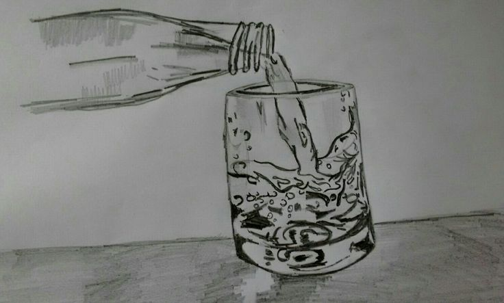 Water pouring sketch