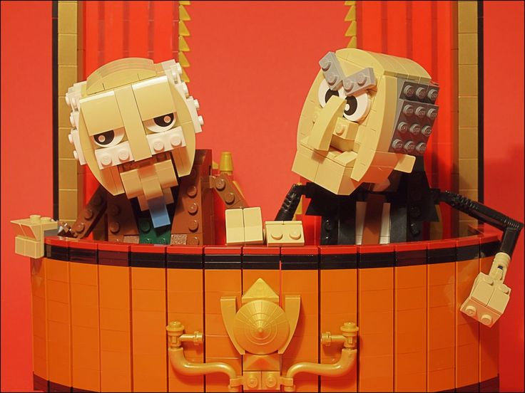 Any build that features a Muppet is worth looking at. This build, by grubaluk, features two of the best Muppets, Statler and Waldorf, the lovable haters in the balcony.