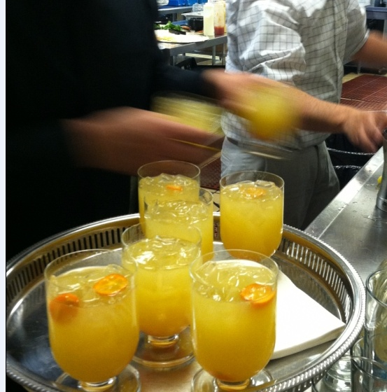 Kumquat Ginger Fizz...what a great option for a signature cocktail!  By Blue Plate Catering in Chicago