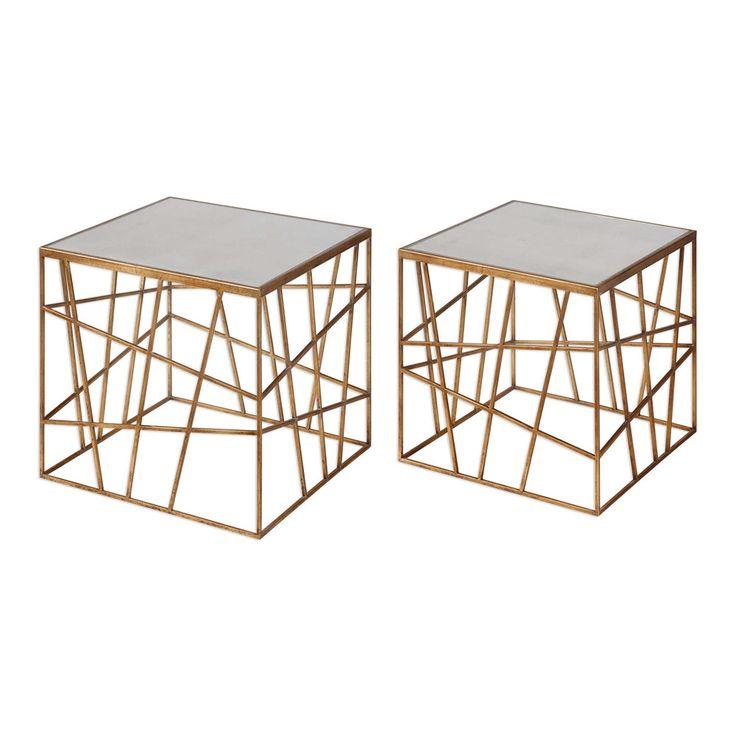Karkin Gold Accent Tables Set/2