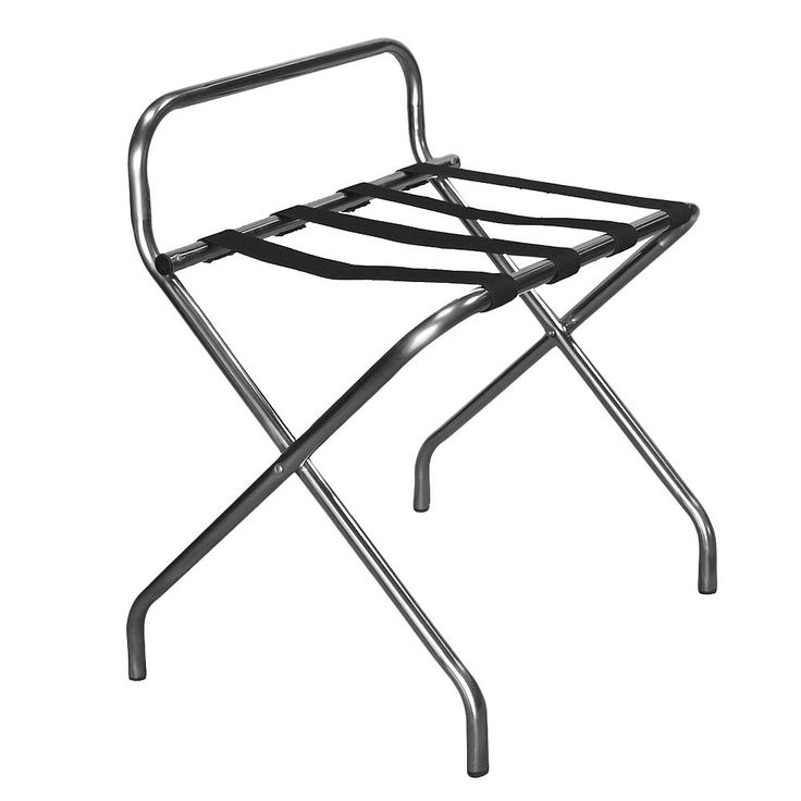 Katella Commercial Grade Luggage Rack - Stainless Steel (Silver) Tubing - Proman Products