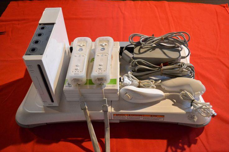 Nintendo Wii Bundle w/ Console + Balance Board + Wii Fit Games + Free Shipping! #Nintendo