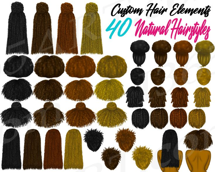 Custom hairstyles clipart, Natural Hairstyles, African American Hairstyles, Box Braids, Locs, Afro Hair, DIY, Planner, Fashion Illustrations