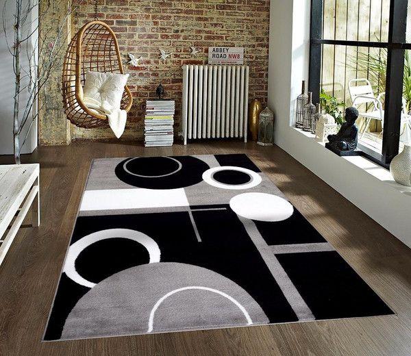 gray geometric area rugs