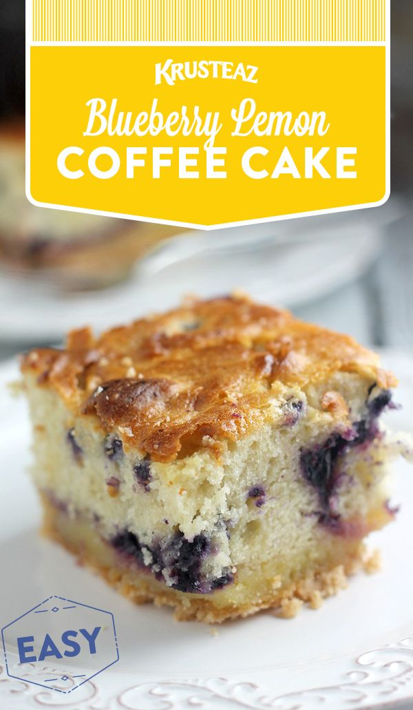Sweet & tangy! All you need is Krusteaz Meyer Lemon Bar Mix & Blueberry Muffin Mix!