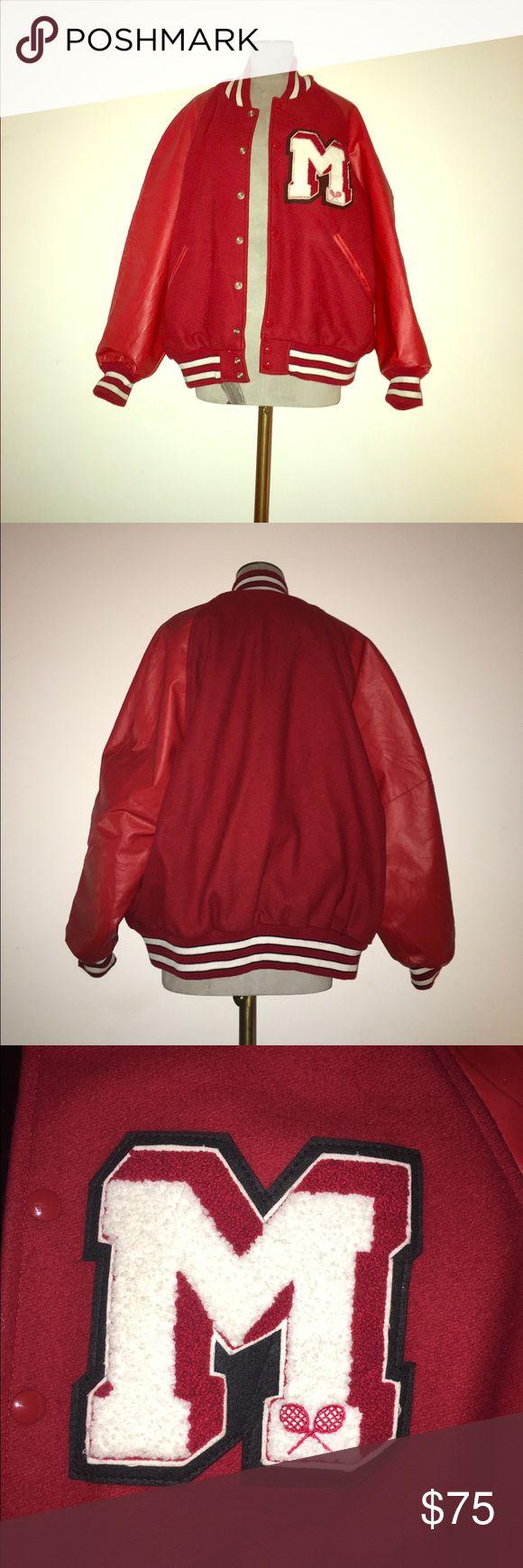 Vintage Varsity Letterman's  Jacket Bright red Letterman's varsity jacket Vintage Jackets & Coats