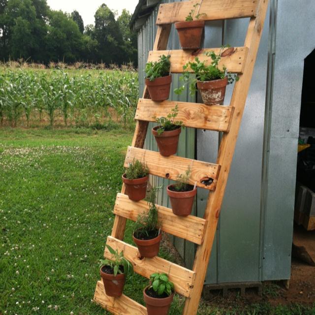 pallet herb garden instructions