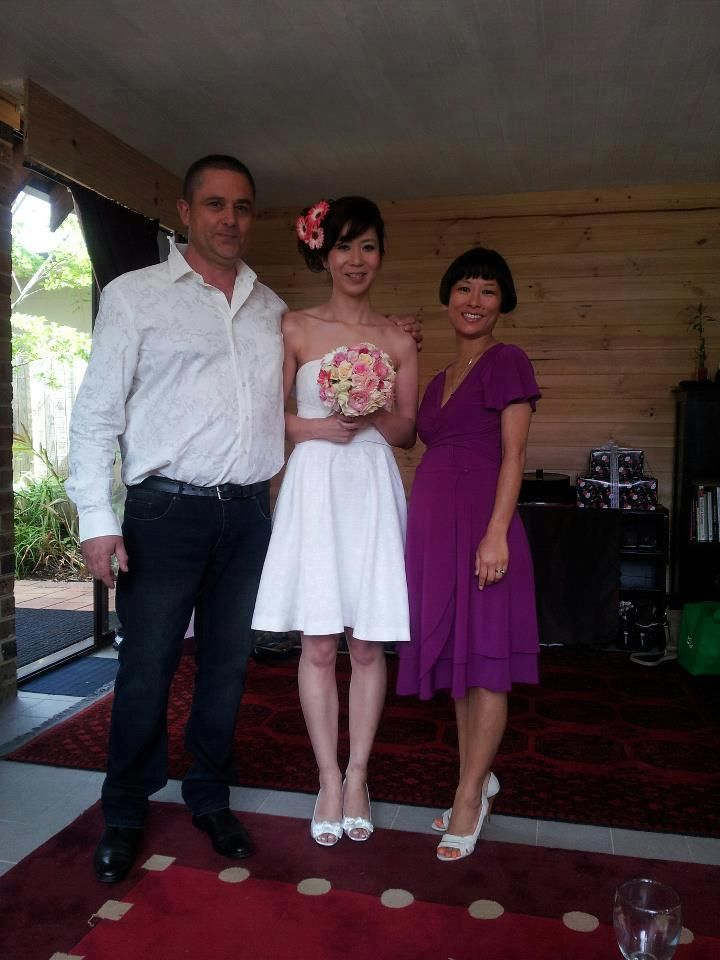 Kazumi and Anthony's wedding at their house