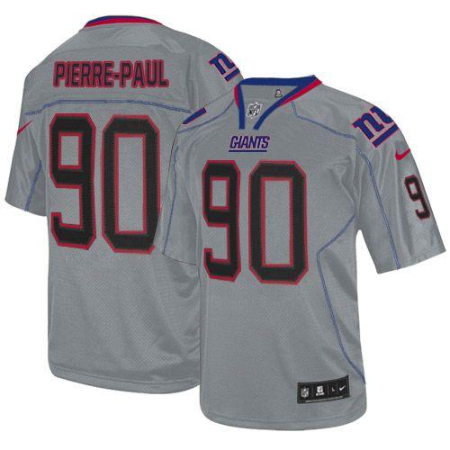 Men's Nike New York Giants #90 Jason Pierre-Paul Elite Lights Out Grey Jersey  $129.99