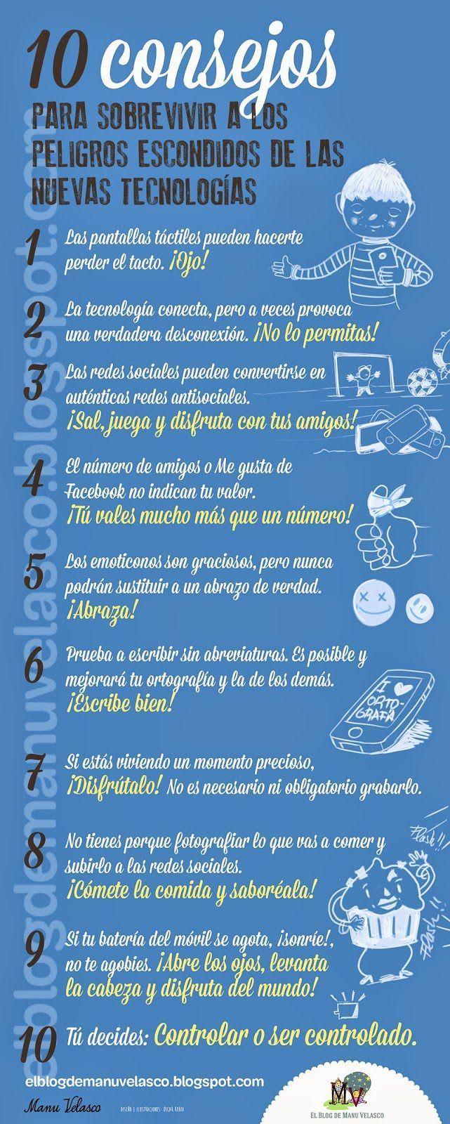 10 Consejos para sobrevivir a los peligros escondidos de las nuevas tecnologías. - - Infografía - BlogGesvin