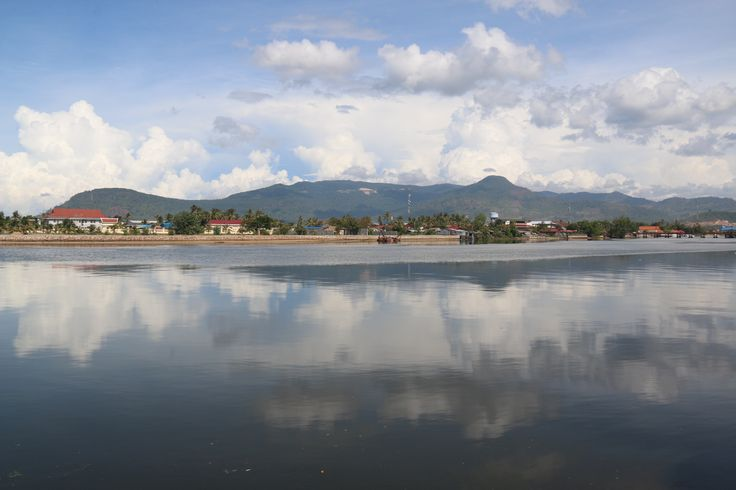 View over the river of Kampot