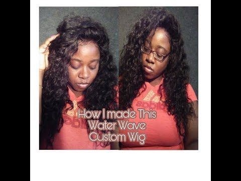 """How To Make A Lace Frontal Wig   Water wave Hair  In this video, I will be showing how I make my Lace Frontal Wig Hair Used: 16"""" Lace frontal 18/20/22 Bundles which I cut some   want a wig made visit our site to place your order   Wig Service Link  http://gigibeautifullocs.com/Wigservice-EasyCheckout  Bundles Link  http://gigibeautifullocs.com/WaterWave"""