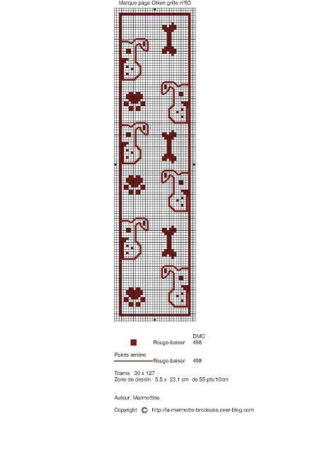 chien - dog - marque page - point de croix - cross stitch - Blog : http://broderiemimie44.canalblog.com/