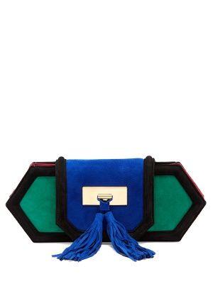 Killari tassel-embellished suede clutch | Balmain | MATCHESFASHION.COM UK