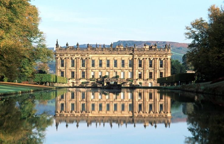 "England. Chatsworth House, better known as ""Pemberly""  Not a castle but gorgeous just the same."