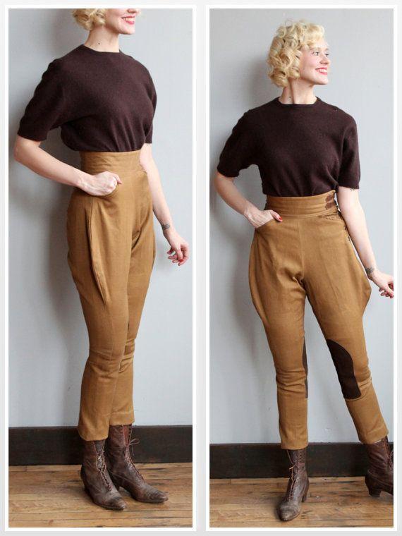 Late 30s Early 40s Jodhpurs Tally Ho Trousers Vintage 1930s 1940s Jodhpurs Tally Ho And