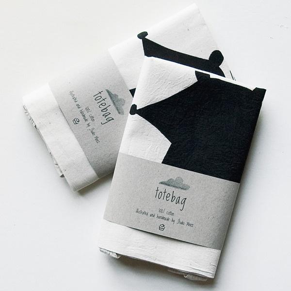 Image of Bear - screen printed tote bag