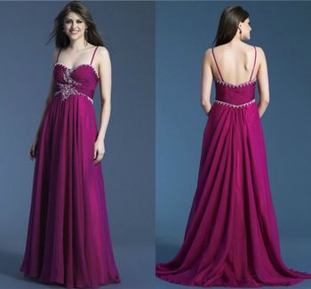 The low neckline is appealing, as well as the crystal embellished design.