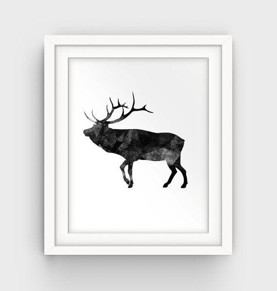 Geometric Purple Deer Wall Art Print Modern Poster Buck: 1000+ Ideas About Geometric Deer On Pinterest