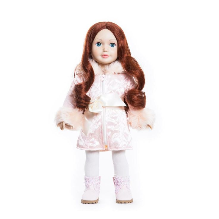 Miss Alexandra  She has red hair, light skin and blue eyes. She has also the cutest freckles on her nose! One of our twelve dolls. #missminime#missminimedoll#missminimedolls#missalexandra#redhaired#blueeyed#beautiful#qualitydoll#girl#musthave#doll