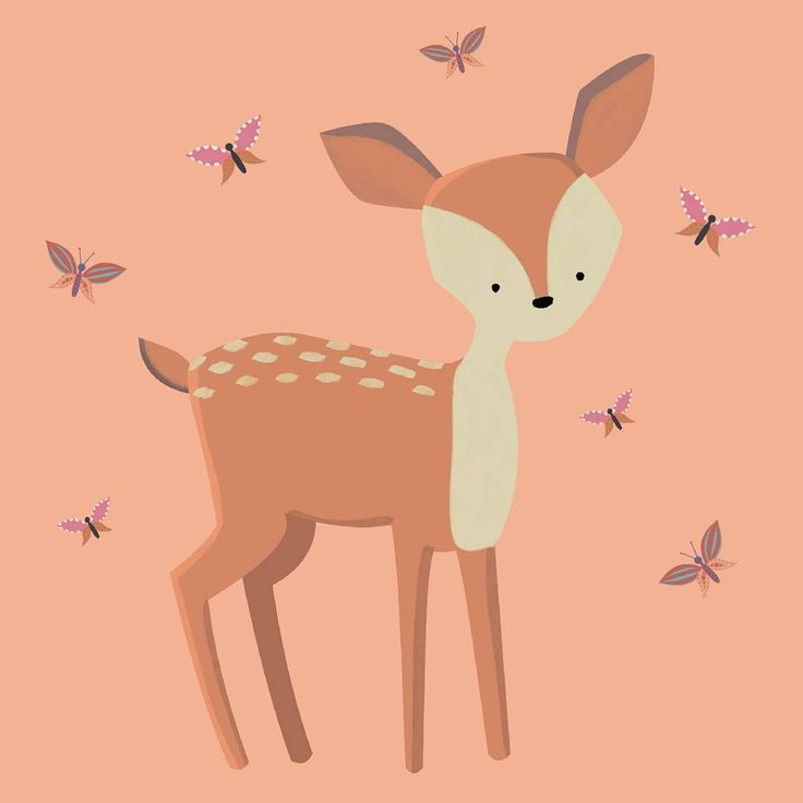 Deer illustration from my Woodland pack. Available on my Etsy shop, link in bio!