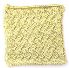 Free Knitting Stitch Gallery : Stitch Gallery - Diagonal Slip Stitch Yarn Free Knitting Patterns Croch...