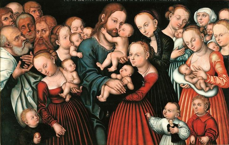 Lucas Cranach the Elder (German, 1472-1553) - Christ Blessing the Children, 1537