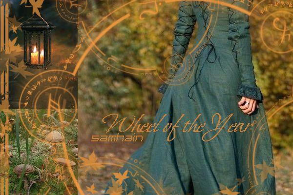 Колесо года, Самайн Wheel of the Year, Samhain, postcard