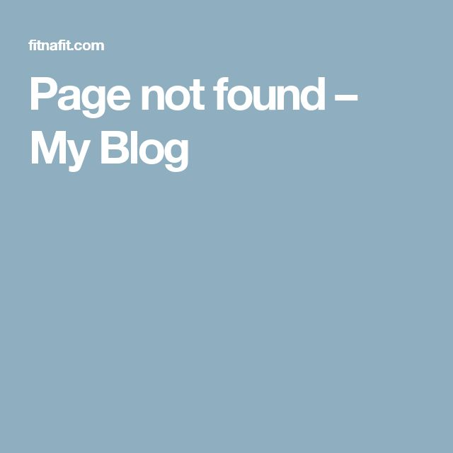 Page not found – My Blog