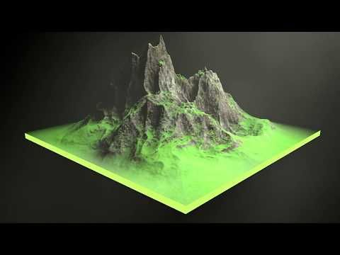 Cinema 4D - Creating a Rock Mountain Tutorial | After Effects