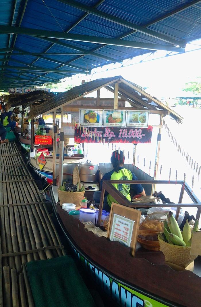 Boat stalls at Floating Market Lembang, Bandung, Indonesia.