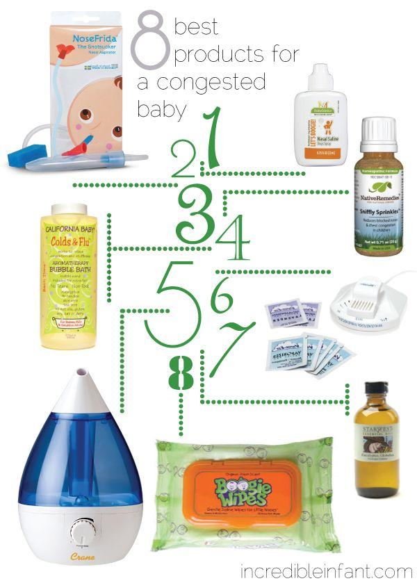 1. BabyGanics nasal rinse 2. Nosefrida snotsucker 3. California baby colds &