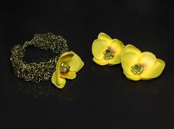 Copper jewelry set wire jewelry set wire crochet by styledonna