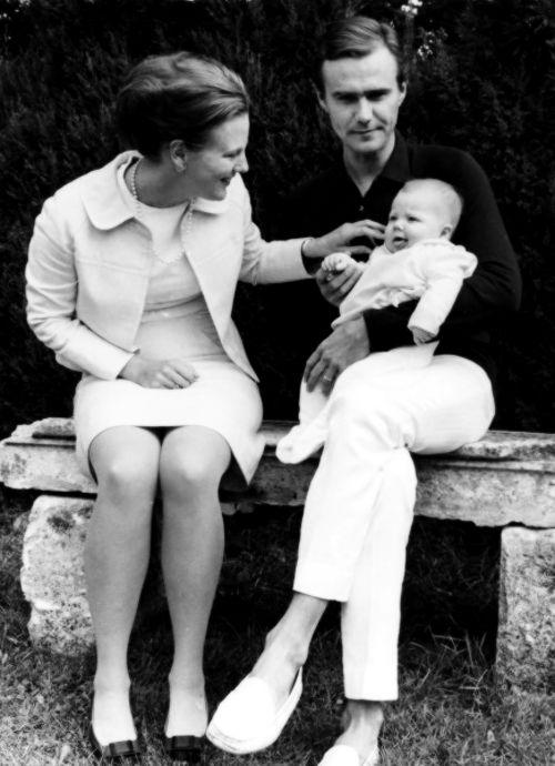 Princess Margrethe, Prince Henrik and Prince Frederik.