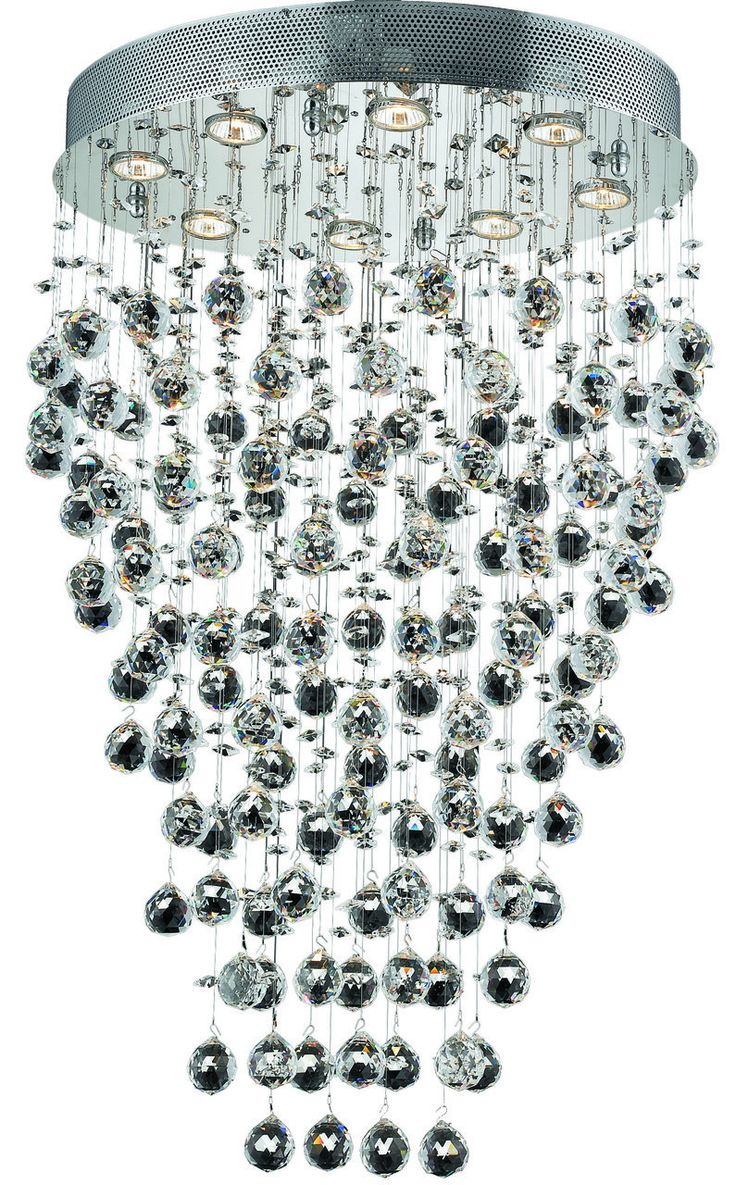 Galaxy 8 Light Crystal (Clear) Chandelier in Chrome Finish 2022D24C/SA
