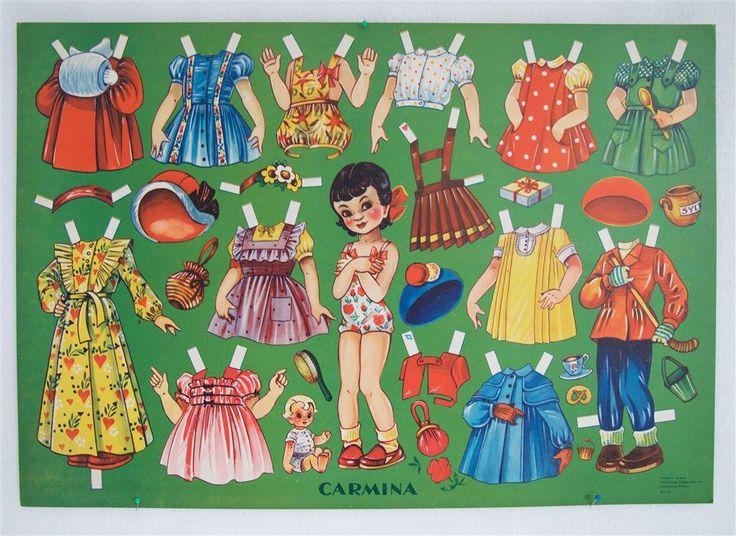 CARMINA helt ark med 50-talets barnmode på Tradera.com - Klippdockor  