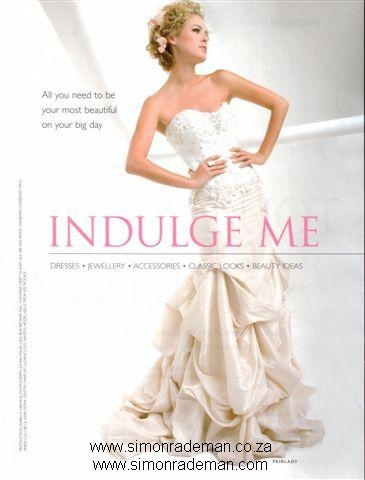 Bridal Wear by Simon Rademan, published in FairLadyBride - find many more on www.simonrademan.co.za