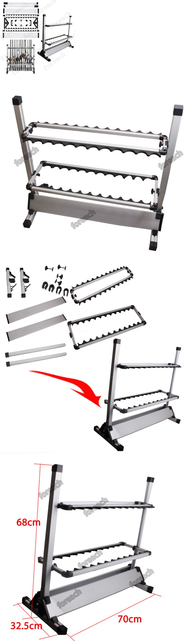 Rod Rests and Holders 72665: Portable 24-Rods Portable Fishing Rod Rack Aluminum Fishing Rod Holder Rod Stand -> BUY IT NOW ONLY: $45.75 on eBay!