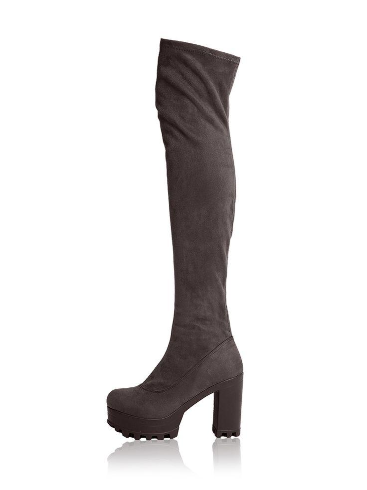 Ψηλή μπότα με τρακτερωτή σόλα
