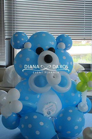 orso-di-palloncini-babyshower-boy - Babyblue balloon Teddybear