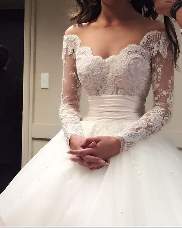 Lace Prom Dress,Long Sleeve Prom Dress,Fashion Bridal Dress,Sexy
