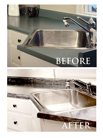 Easy Updates For A Better Laundry Room Painted Granite Countertopspaint Laminate