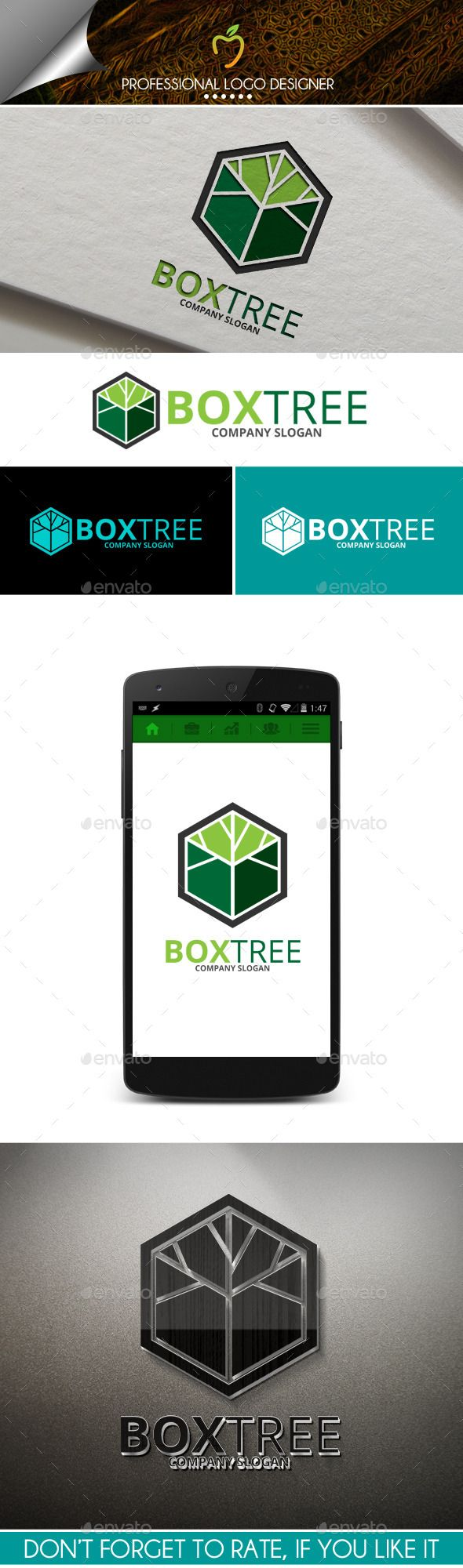 Box Tree Logo — Vector EPS #box #green • Available here → https://graphicriver.net/item/box-tree-logo/10012316?ref=pxcr