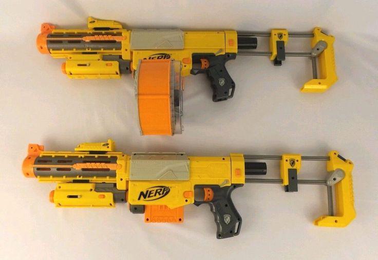 Lot Of 2 Nerf N-Strike Recon CS-6 Rifles & N-Strike Enlist Engage Magazine  #NERF